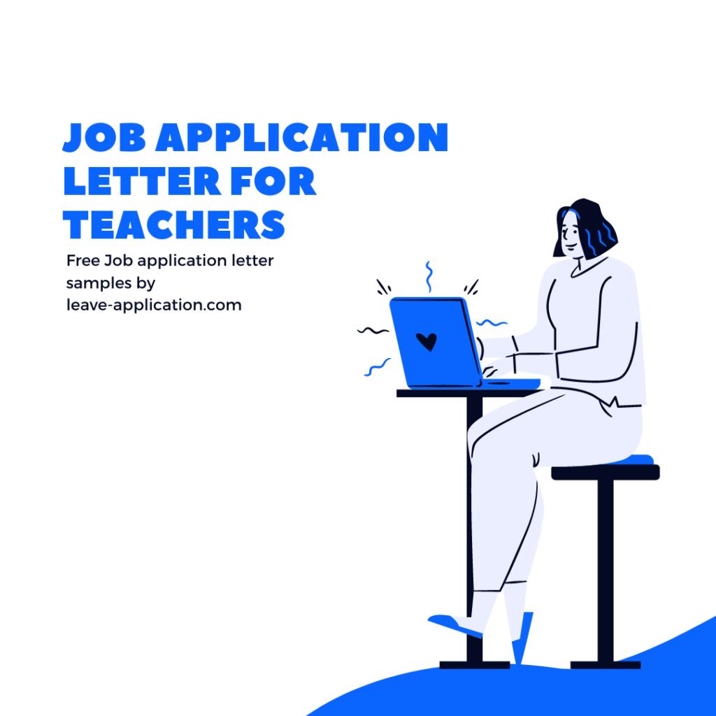 job application letter for teacher