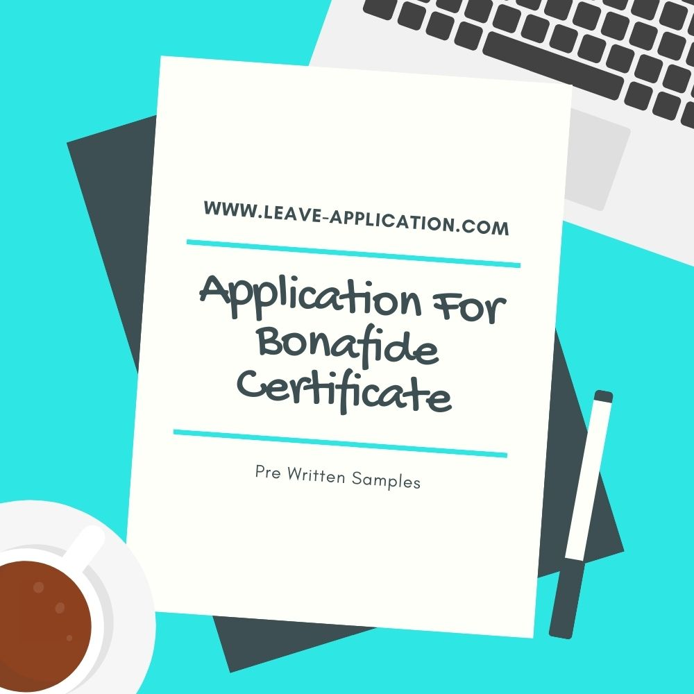 Application For Bonafide Certificate
